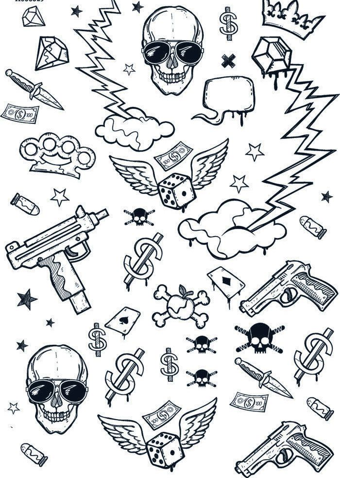 Ganging - Ceramic Decals- Enamel Decal - Fusible Decal - Glass Fusing Decal ~ Waterslide Decal - 11368