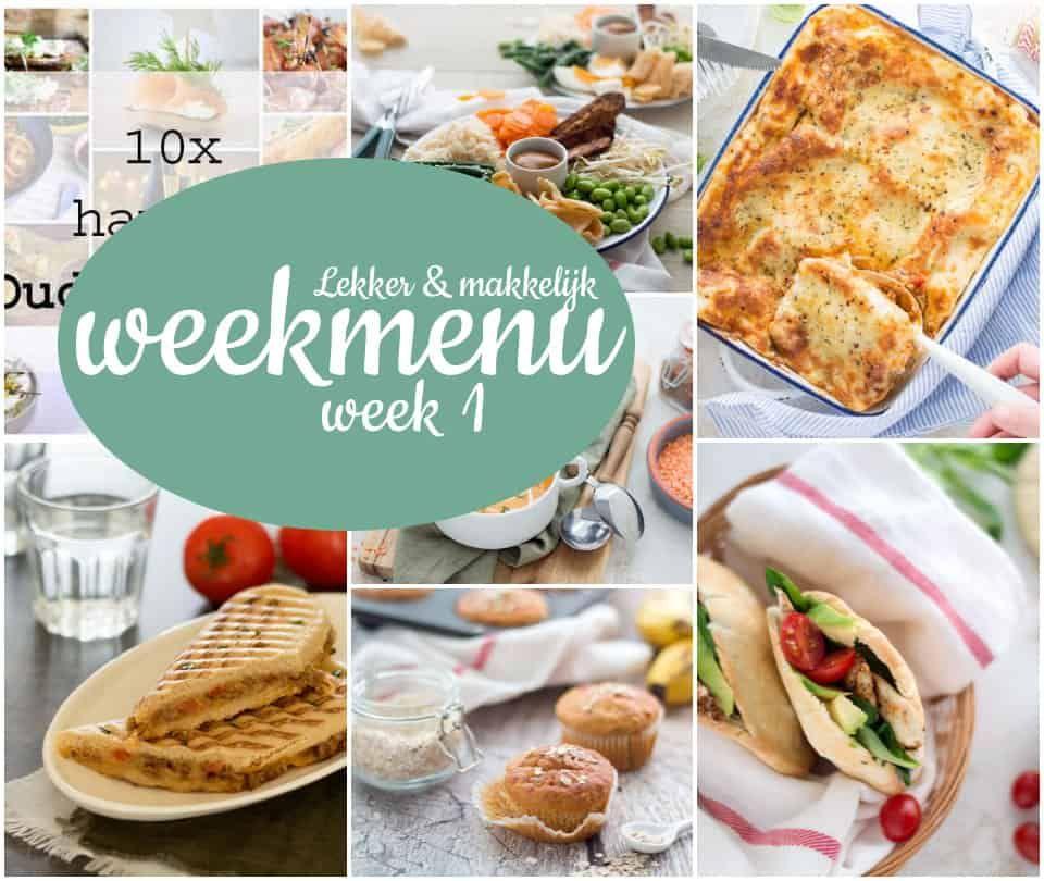 Lekker en makkelijk weekmenu – week 1 #hapjesoudejaarsavond