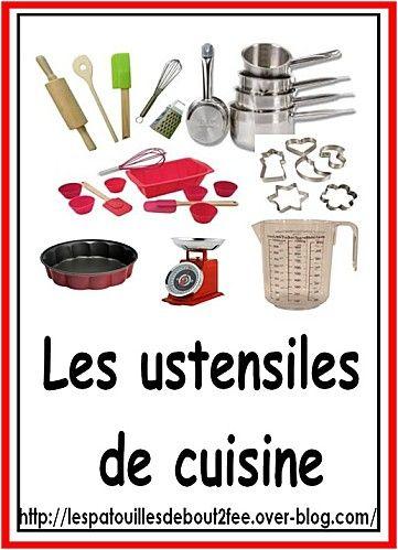 lexique french pinterest ustensile de cuisine de cuisine et cole. Black Bedroom Furniture Sets. Home Design Ideas