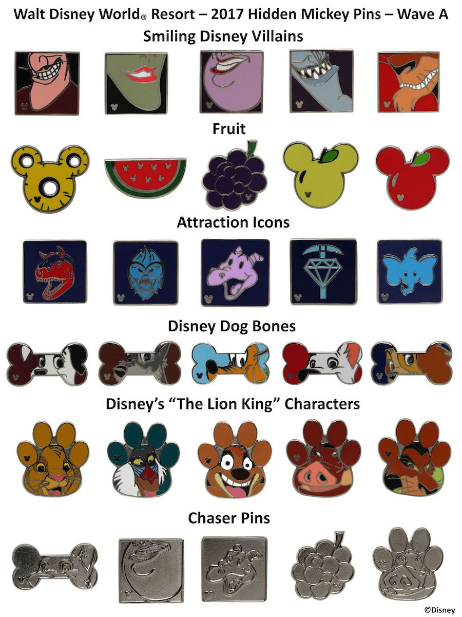 f1ba039a3cde0d New Hidden Mickey Pins for 2017 to Collect and Trade at Disney Parks ...