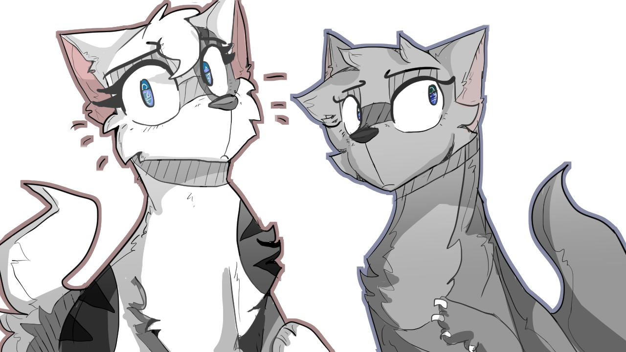 Ivypool and Dovewing by warriorcaat on tumblr Warrior