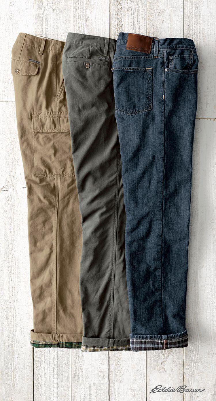 The ultimate pants for cold weather. Flannel lined jeans, pants ...