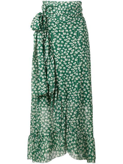 6afc8277d4ce GANNI Capella Mesh Floral Print Skirt. #ganni #cloth #skirt | Ganni ...