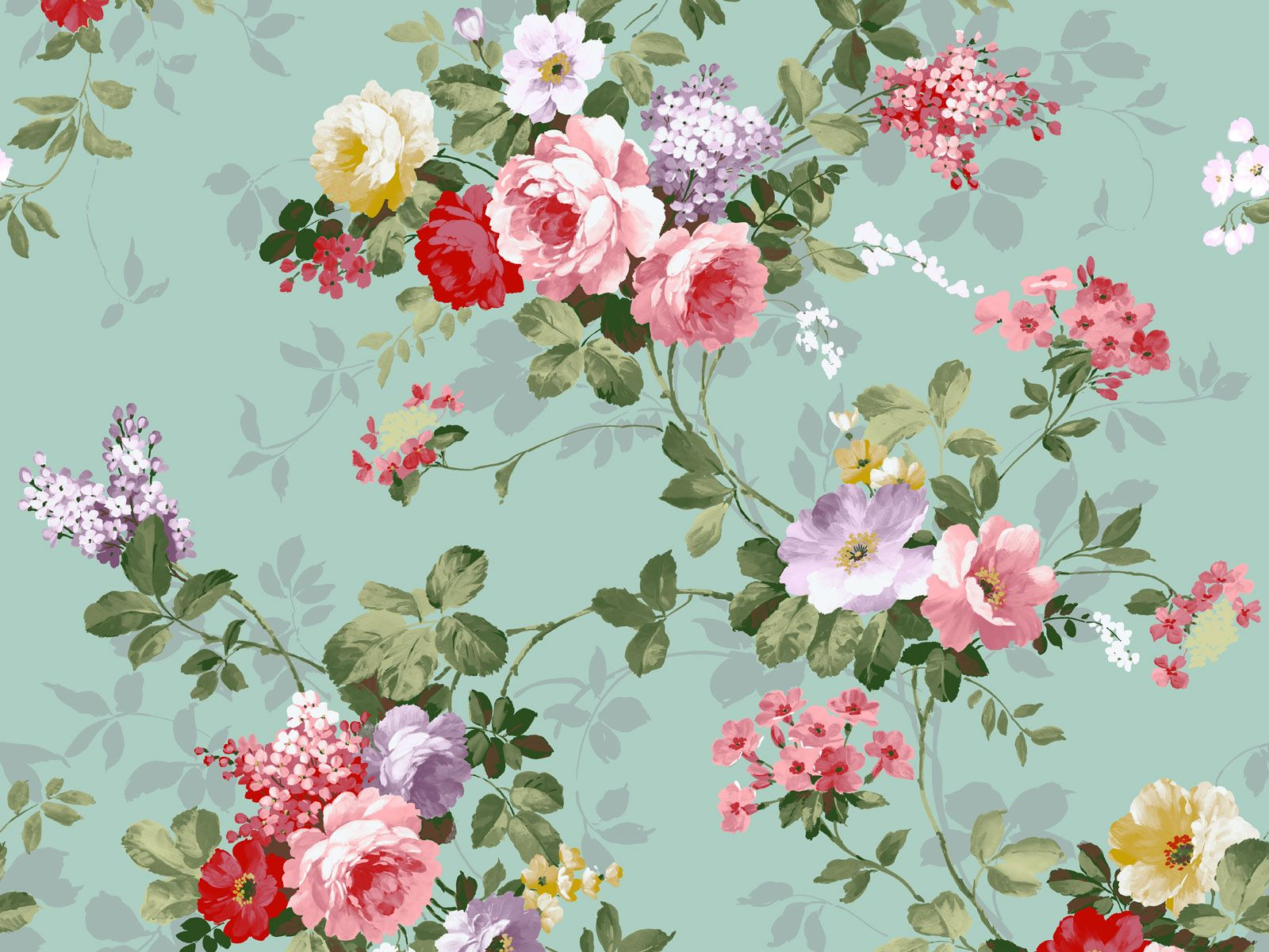 Flower Pattern Wallpaper Interesting Decoration