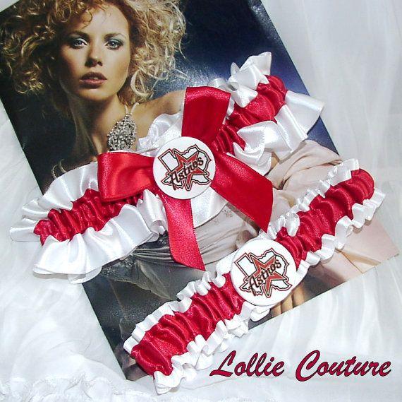 Houston Astros Garters Wedding Garter Set By Lolliecouture 5000