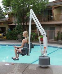 Ada Compliant Pool Lifts Handiramp Indoor Swimming Pool Design Swimming Pool Steps Swimming Pool Designs