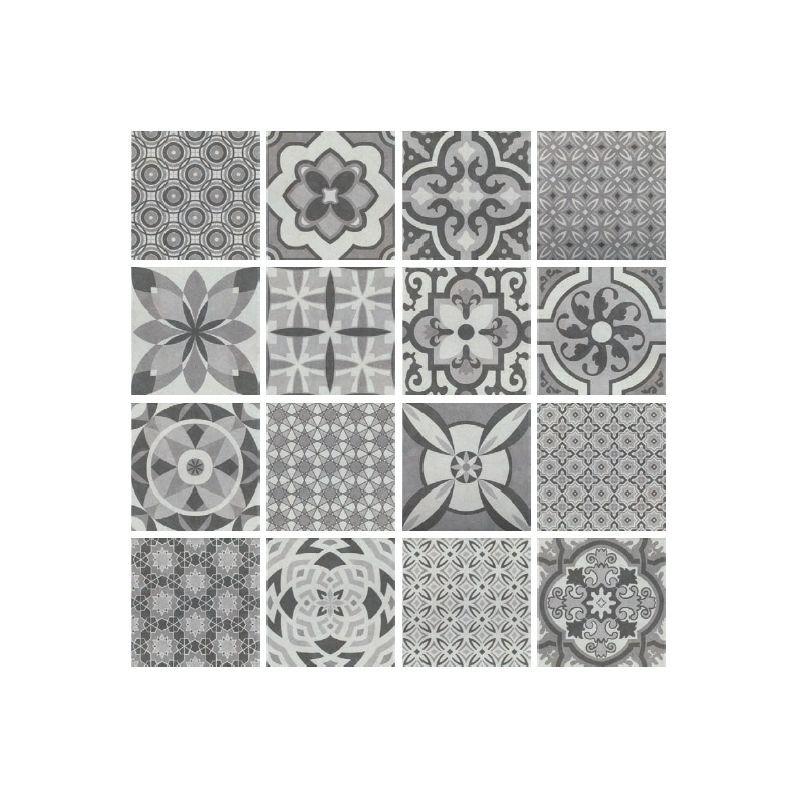 Patterned Porcelain Floor Tiles Vintage Mix 1 Square Metre 16 Tiles Patchwork Tiles Painting Tile Floors Porcelain Floor Tiles
