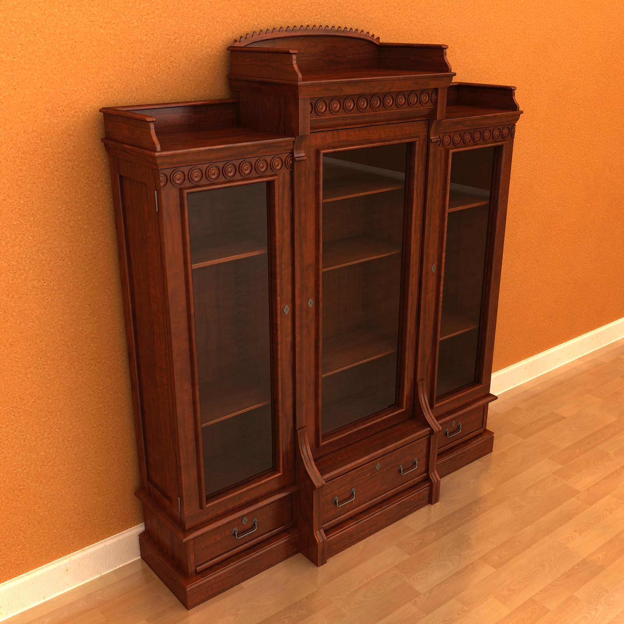 bookcase shelves cabin product bookcases w fixed erie enclosed adj appeal