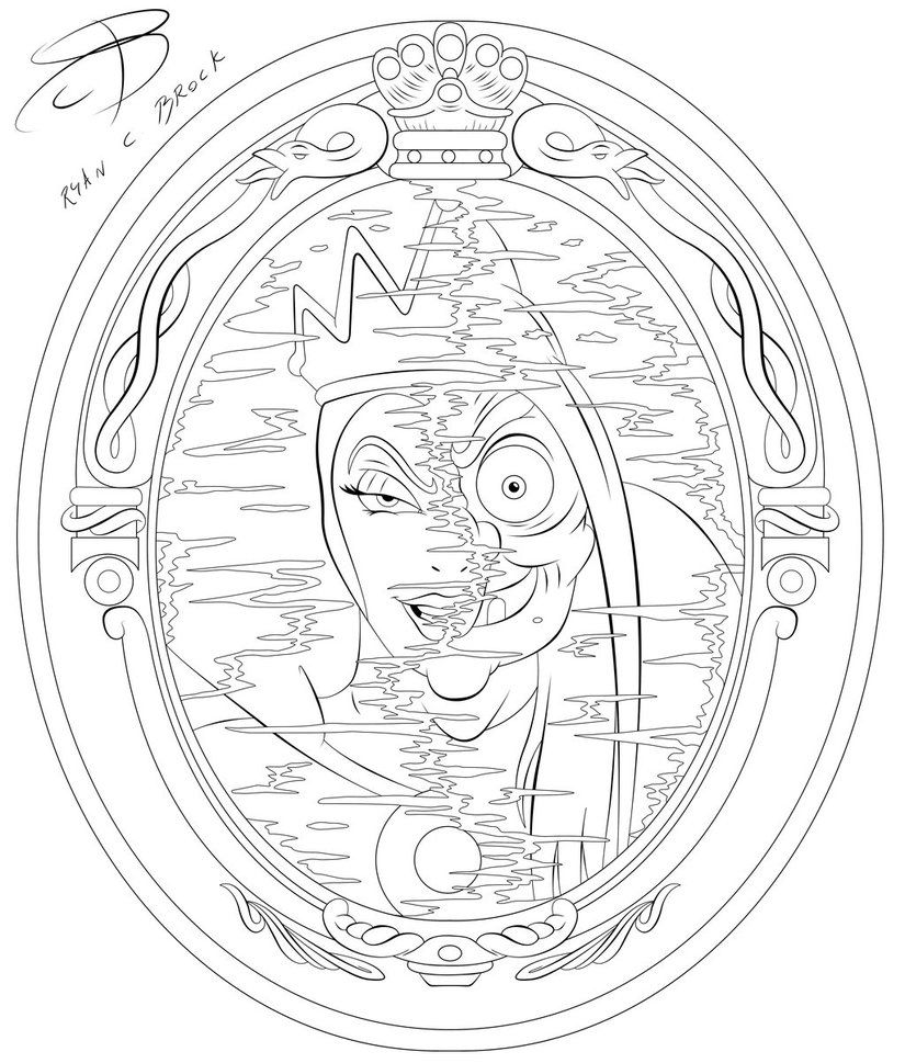 Coloring Pages Evil Queen By Rcbrock Coloring Pages Queen Drawing Disney Coloring Pages
