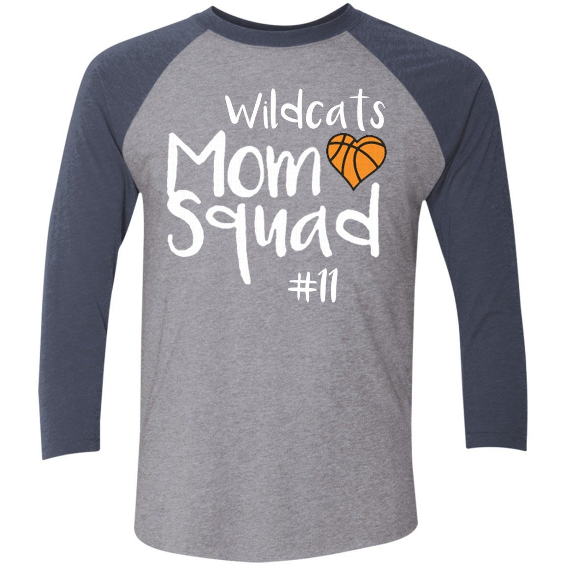 Personalized Unisex 3 4 Sleeve Raglan Mom Squad Basketball Sports Mom Shop With Images Sports Mom Shirts Basketball Mom Shirts Sports Mom