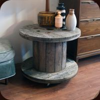 Salvaged Cable Spool Table