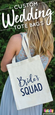 order personalized wedding tote bags for your bridesmaids out of