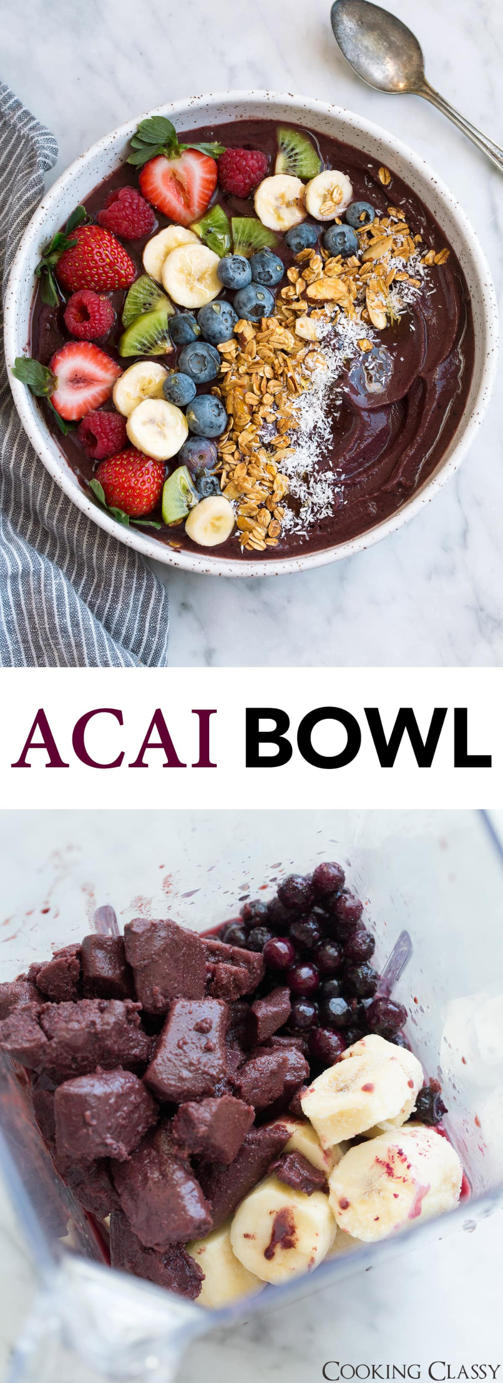 Photo of Acai Bowl Recipe {Blender or Food Processor Option} – Cooking Classy
