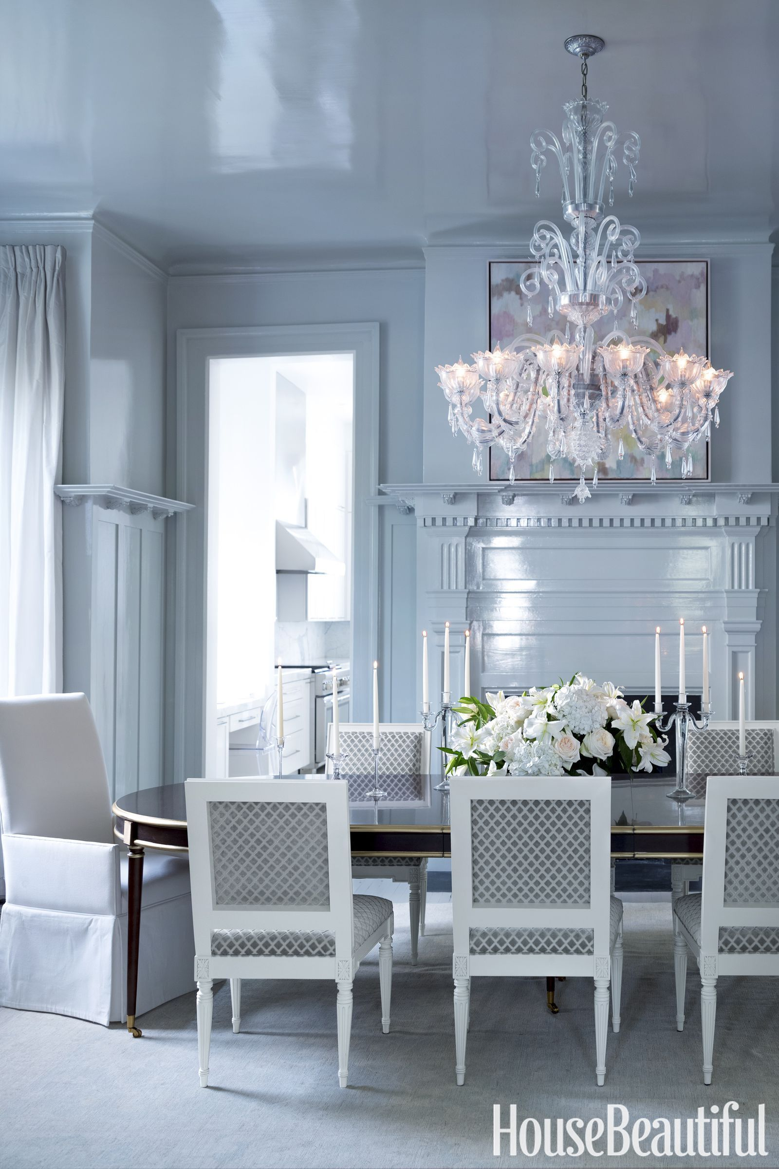 An Elegant And Airy Dining Room Aesthetic With Both European