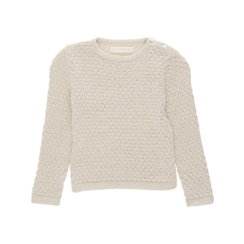 1d0ab0f4 Bine sweater - Ecru | 1.r. - 12.téma: Odev | Sweaters, Bobble stitch ...