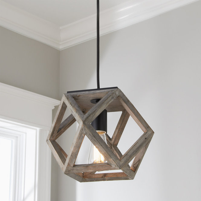 Weathered Wood Cage Pendant Small Cage Ceiling Light Wood Ceiling Lights Wood Pendant Light