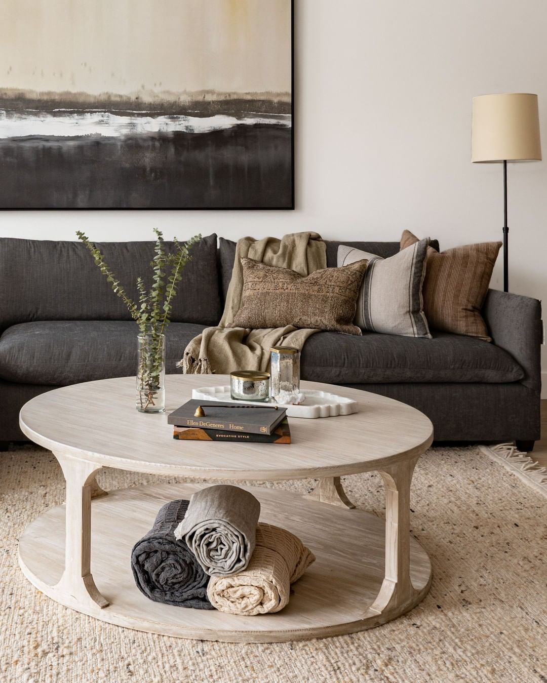West Of Main On Instagram The Ponce Coffee Table Has A Delicate Silhouette And Is Made Of Beauti Color Palette Living Room Coffee Table Grey Sofa Living Room [ 1349 x 1080 Pixel ]
