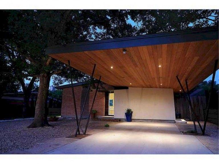 53 Fascinating Modern Carports Garage Designs Ideas Modern Carport Modern Garage Garage Door Design