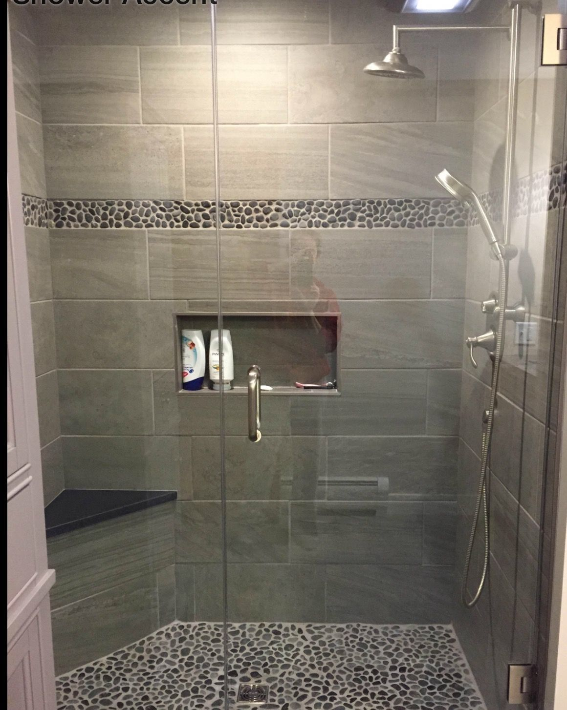 But Bigger And With A Full Bench And Two Showerheads Basement - Basement bathroom renovation