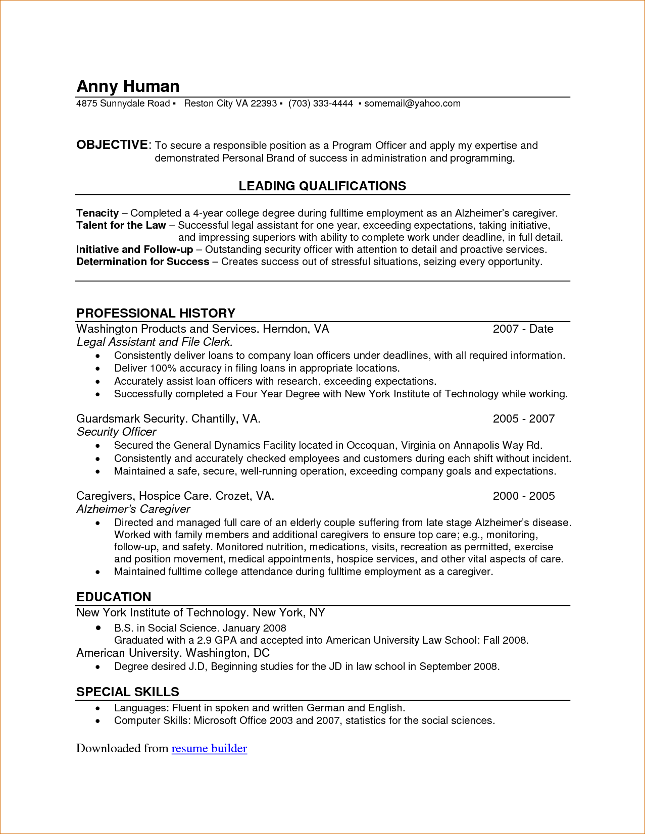 Medical Resume Builder Templates And Examples Healthcare Attorney
