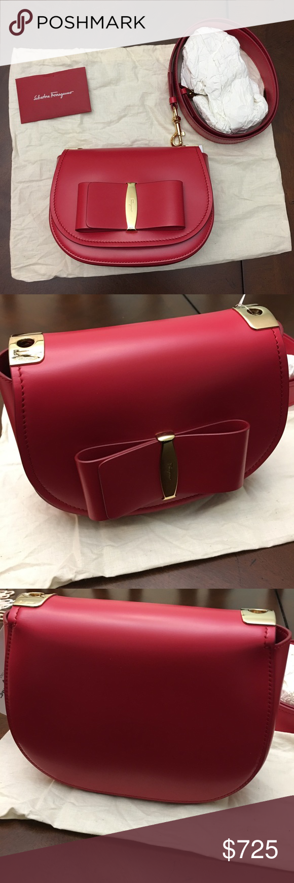 "8ba5887c3df6 Salvatore Ferragamo Pamplona ""Anna"" bag Red and gold Salvatore ferragamo  Pamplona ""Anna"" bag brand new comes with dust bag   sold out every where     ..."