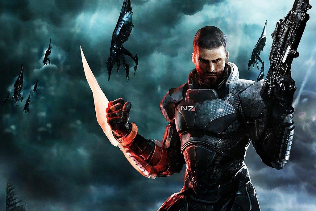 Commander Shepard Mass Effect 3 Poster Mass Effect