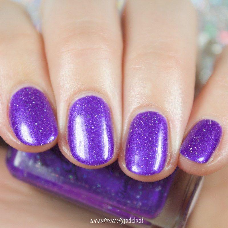 Tulip Purple Metallic Nail Polish By Bellabosio On Etsy