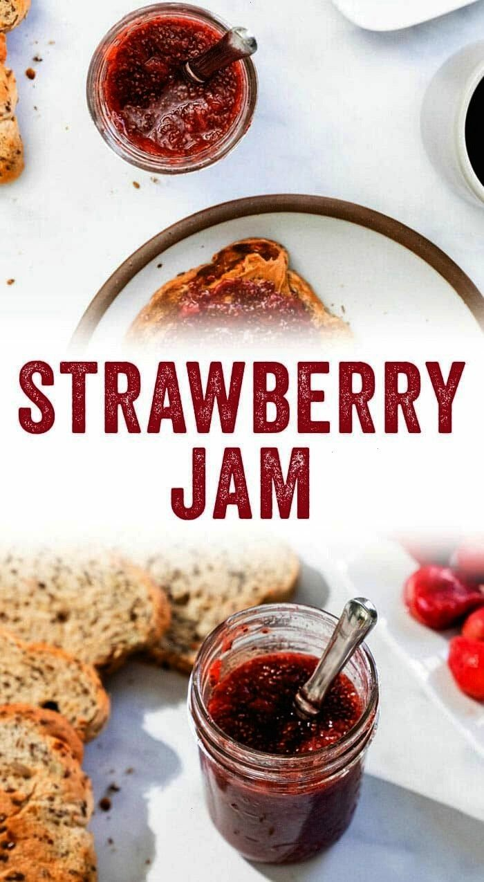 the BEST strawberry jam. It's tangy, all natural, vegan, and so easy. In just 15 minutes you have h