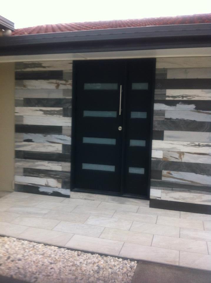 Entrance Outdoor Wall Tiles Design For Outside House