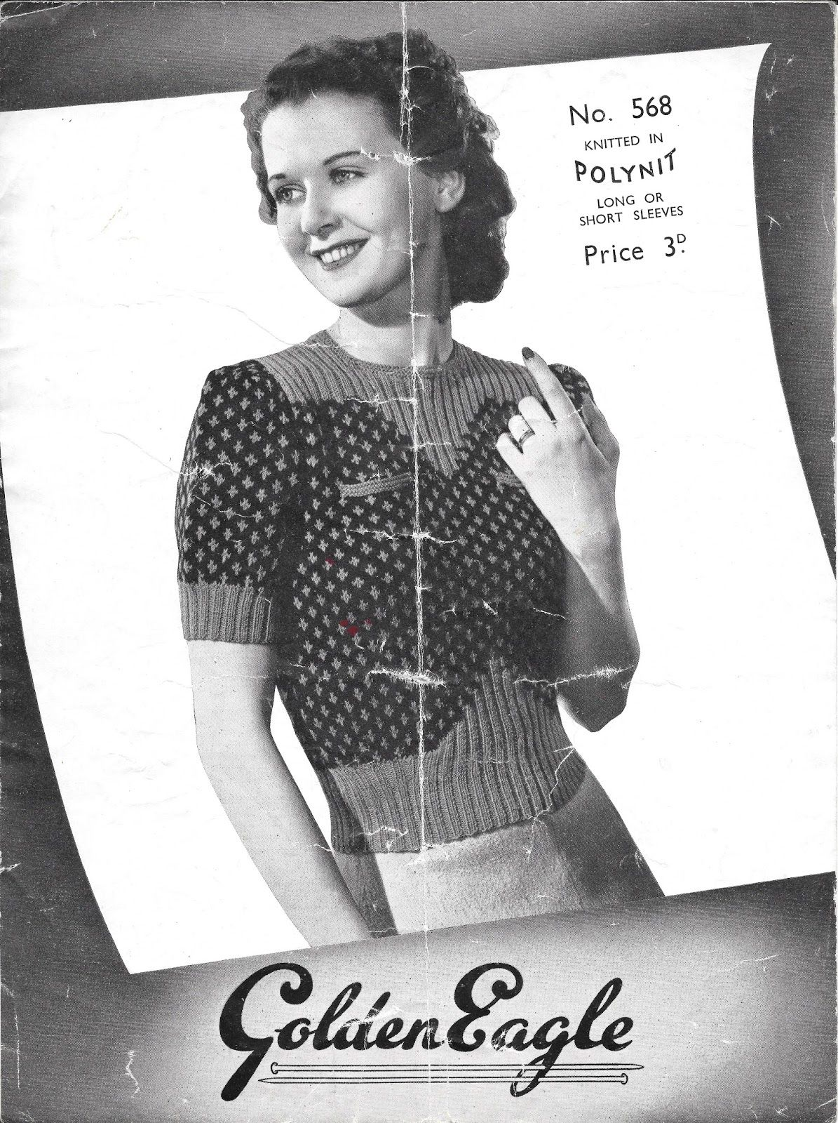 A really classic knitting pattern this month, a solid 1940s number ...