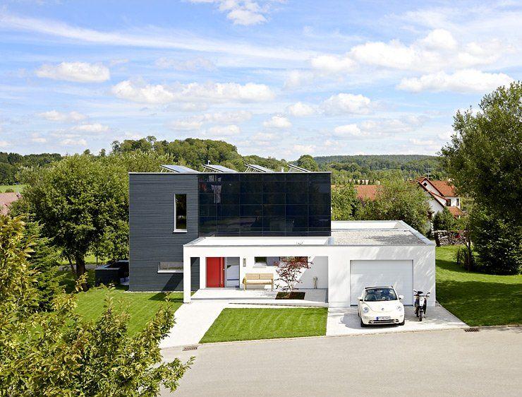 regeneratives energiekonzept und moderne architektur | flachdach ... - Moderne Haus Architektur