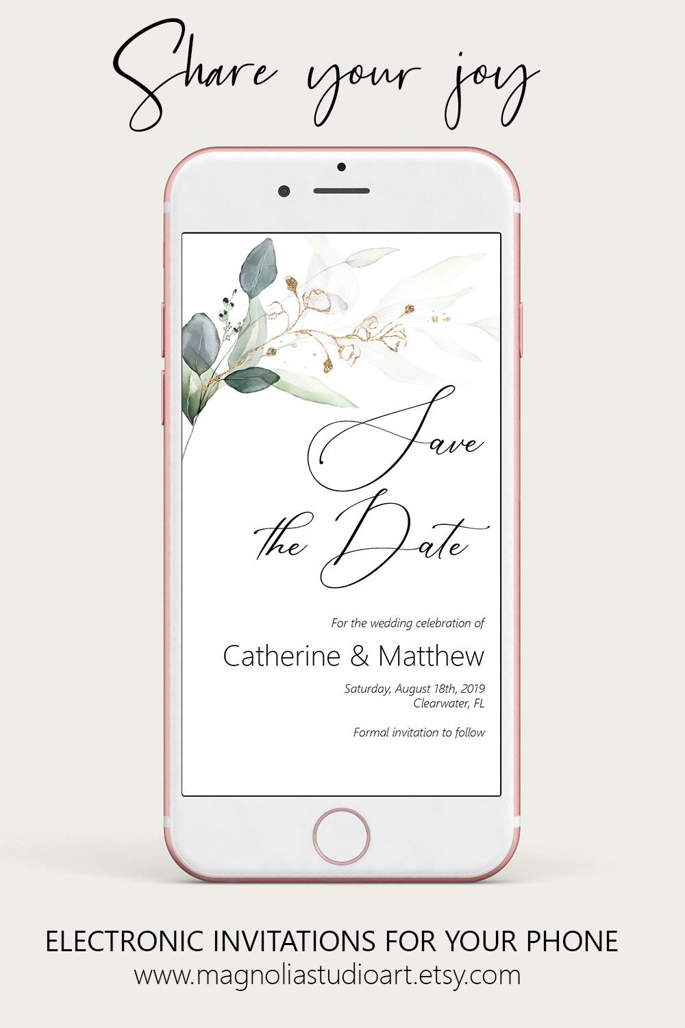 Evite Template Mobile Invitation Editable Instant Download iPhone Electronic Invitation 5 X 7 Nevada Post Card Save the Date