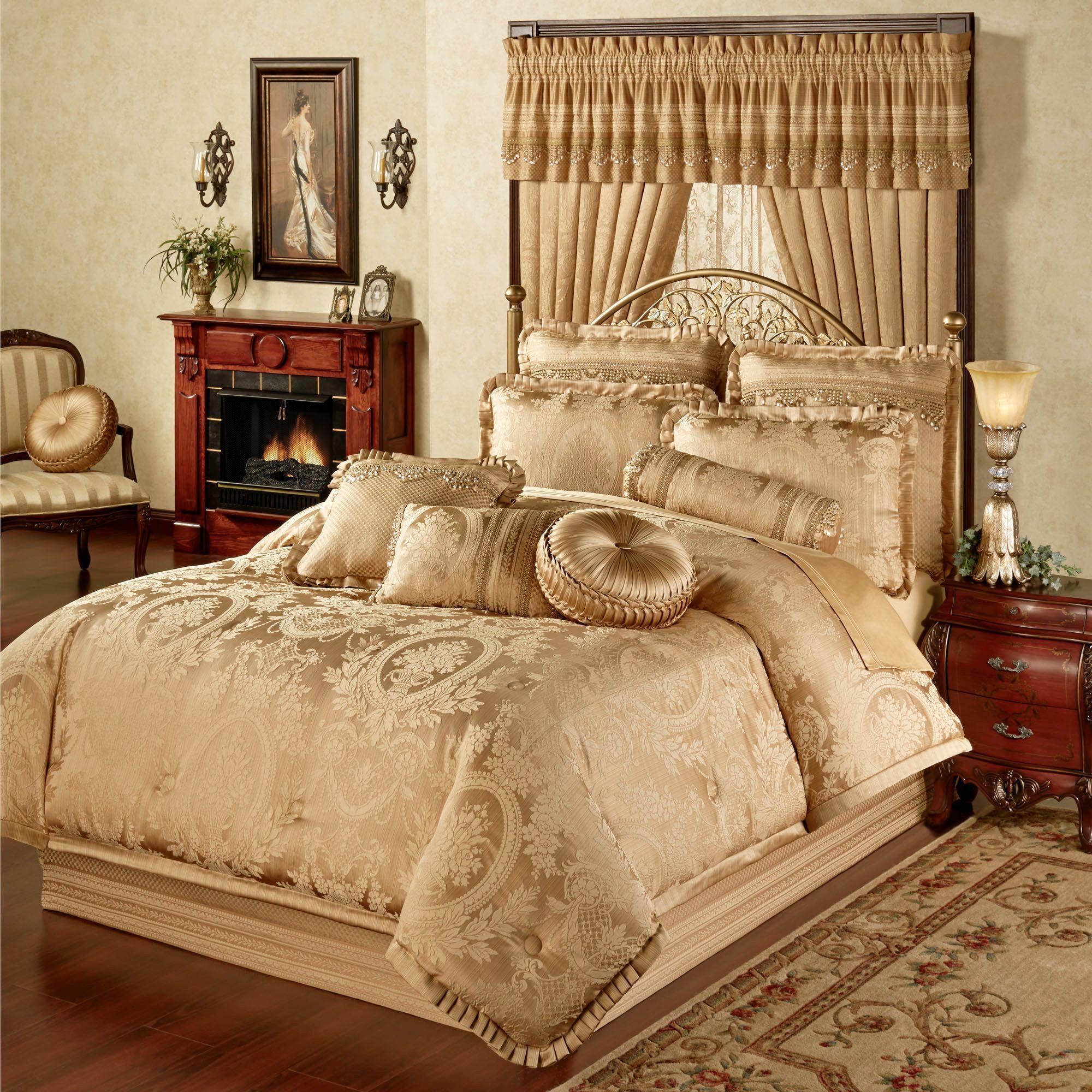 Corsica Gold Comforter Bedding in 2020 Luxury bedding