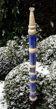 Gartenstele Frostfest Und Handgemacht Ceramic Totems Pinterest