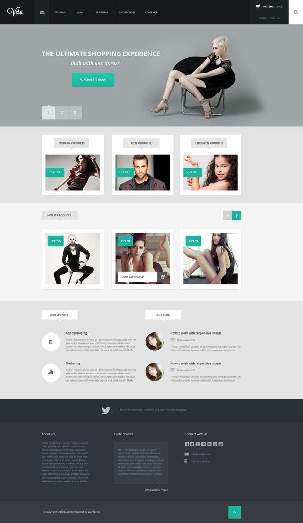 Vera Fashion Shop Wordpress Template By Arian Selimaj Fashion Web Design Web Design Inspiration Flat Web Design
