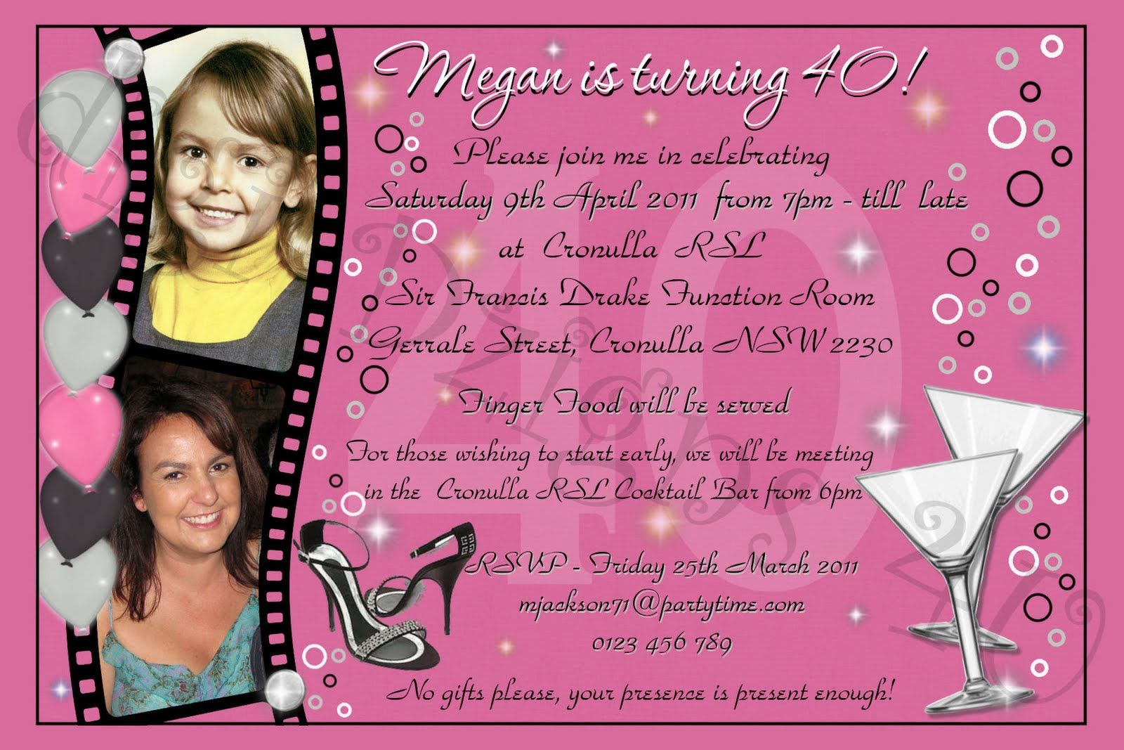 Download Birthday Invitation Wording for Adult | FREE Printable ...