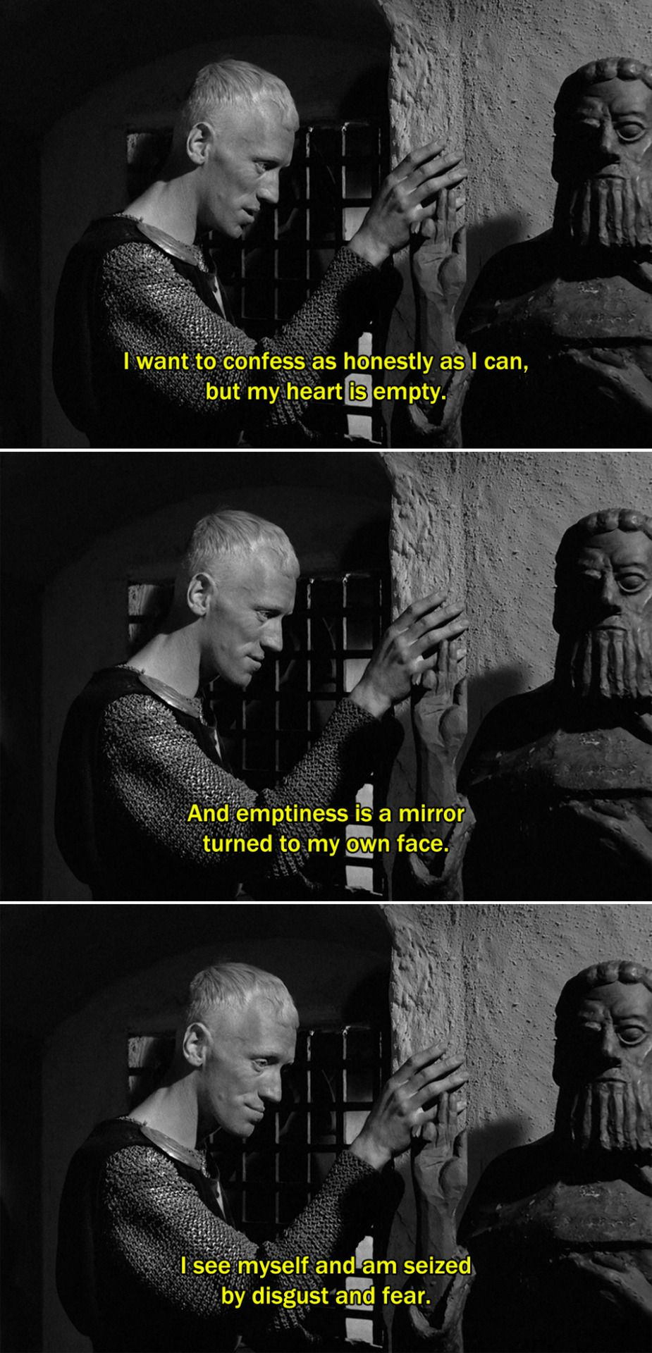 The Seventh Seal (1957) Block I want to confess as