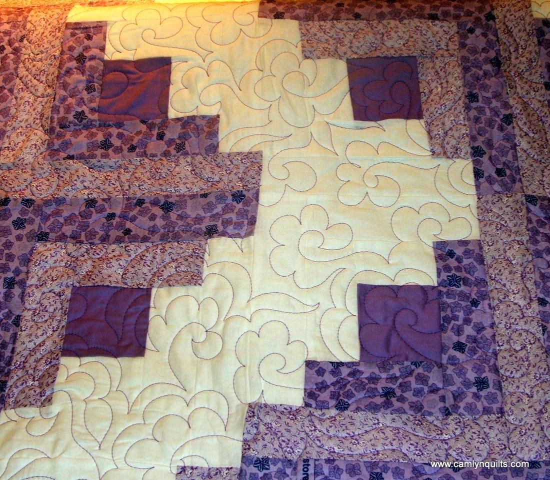 photos of log cabin quilts making pictures | Quilt Sold, Lyn Durbin purple log cabin quilt