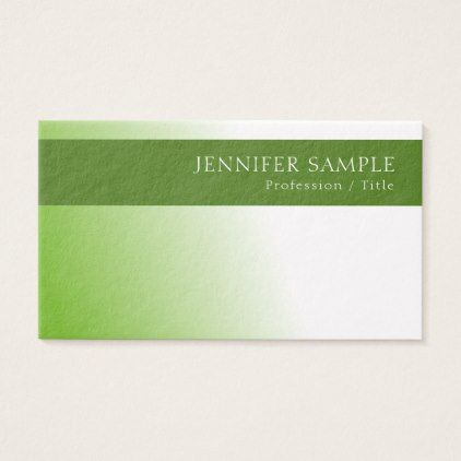 Stylish Green Environment Nature Protect Luxury Business Card - Sample Cards