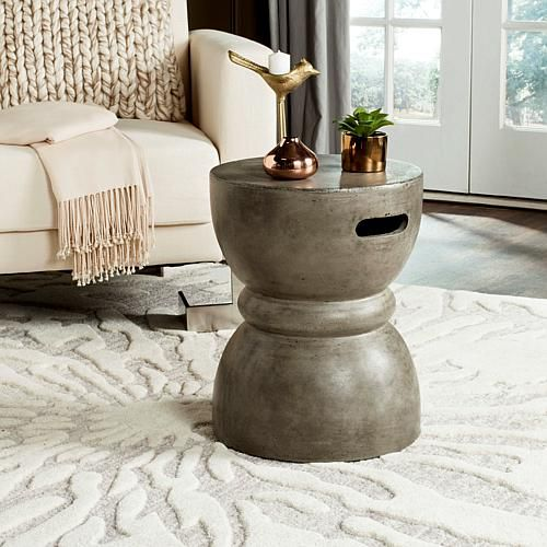 Safavieh Haruki Concrete Accent Table Gray 8496281