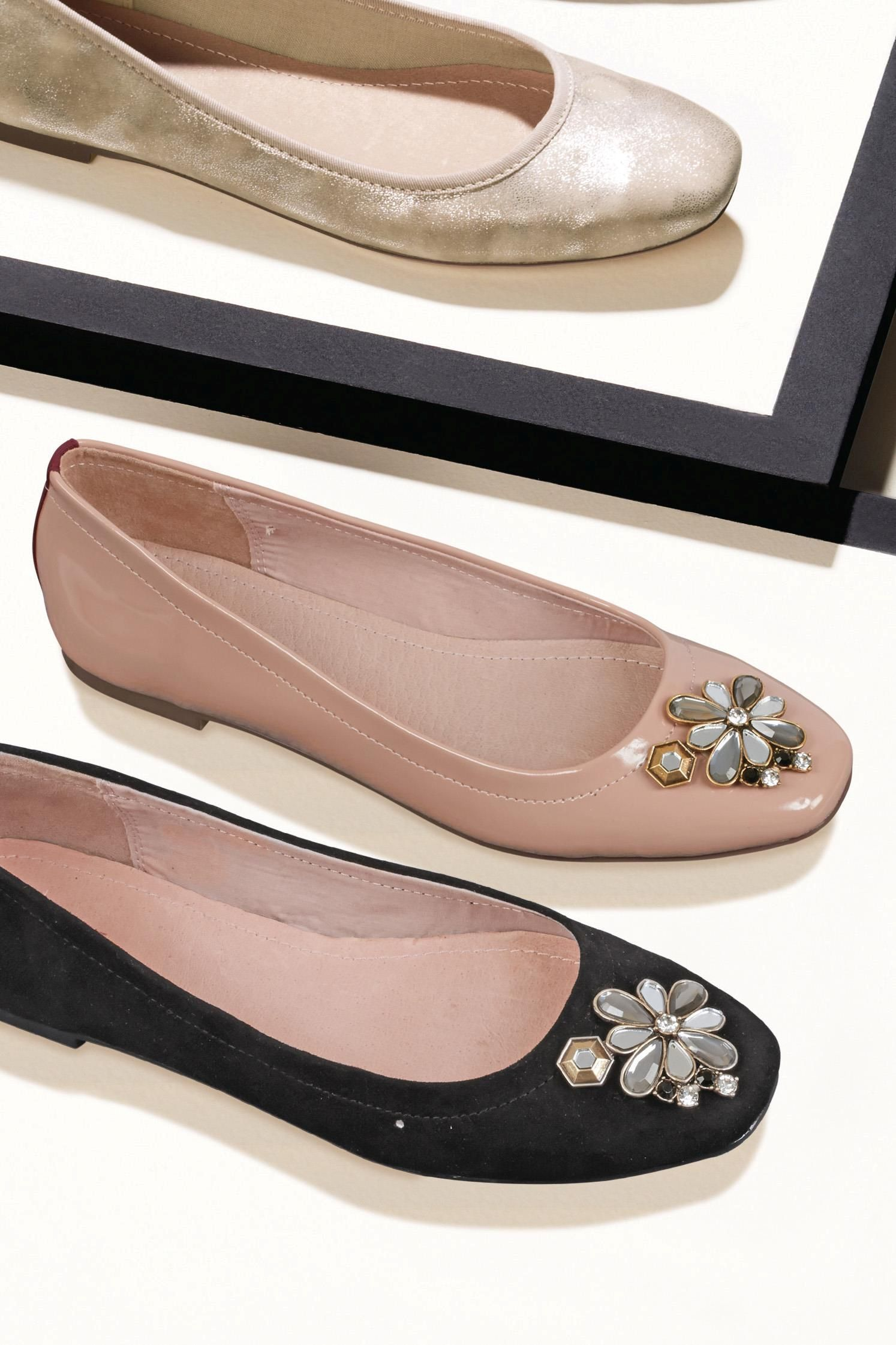 cheaper 0a474 0b39c Buy Jewel Square Toe Ballerinas from the Next UK online shop ...