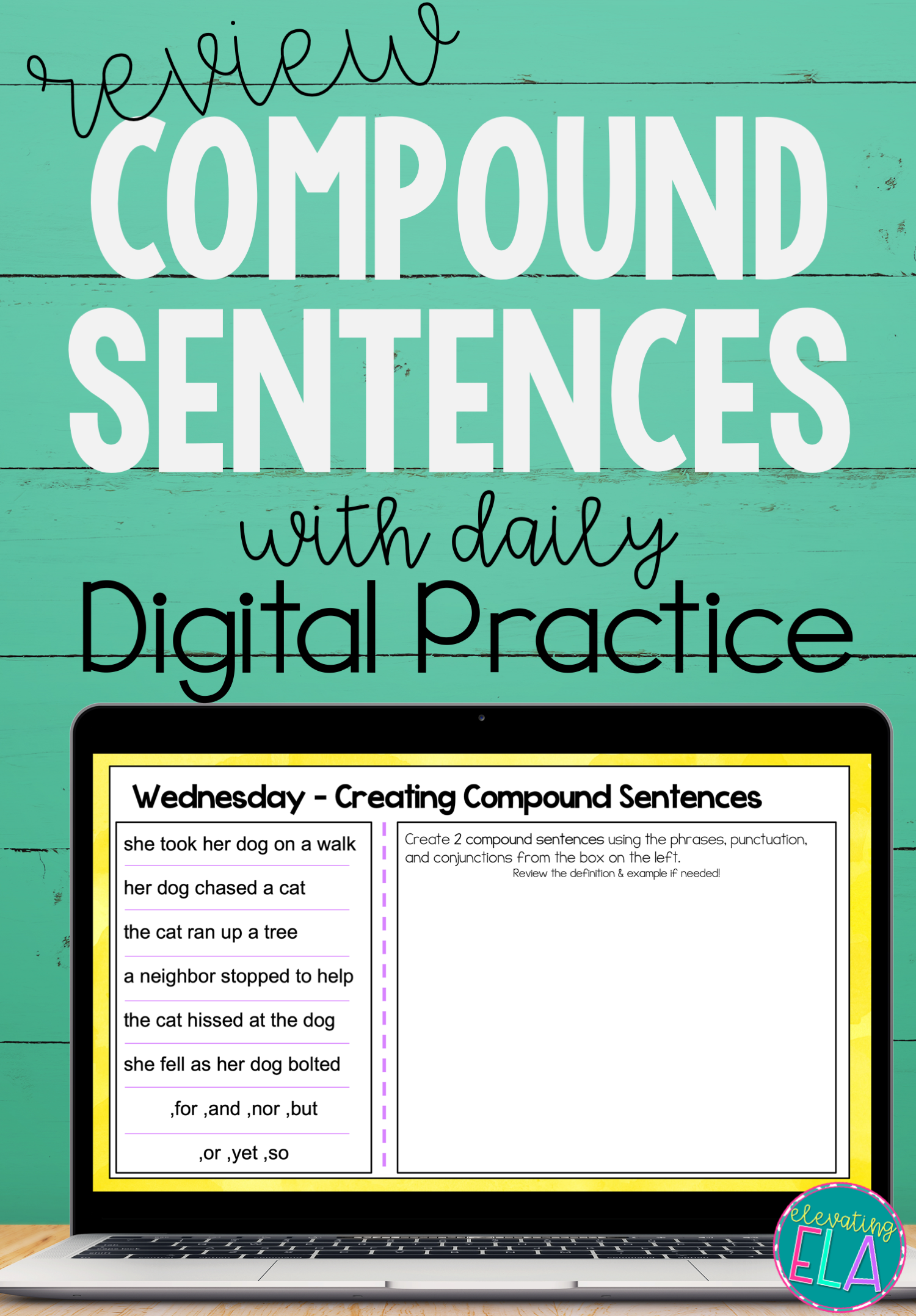 Compound Sentences Digital Daily Practice In