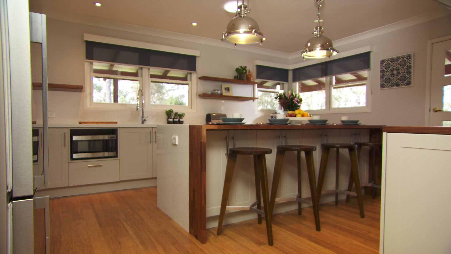 Family Kitchen Renovation | The Living Room Australia | Îlot cuisine ...