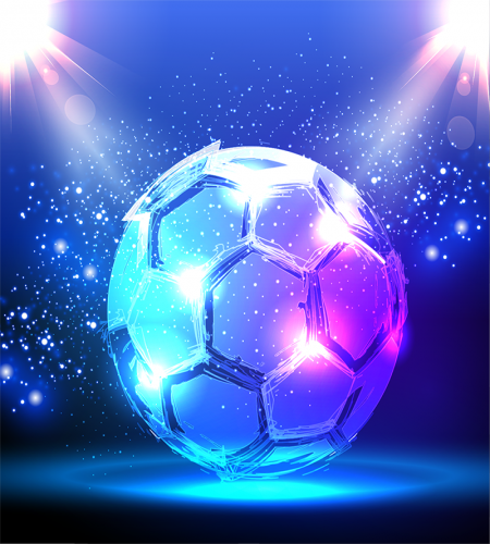 خلفية كرة قدم فيكتور زجاجية روعة تحميل مباشر Vector Background Football Background