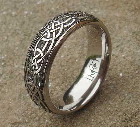 Celtic Ring Mens Wedding Rings Titanium Wedding Rings Celtic