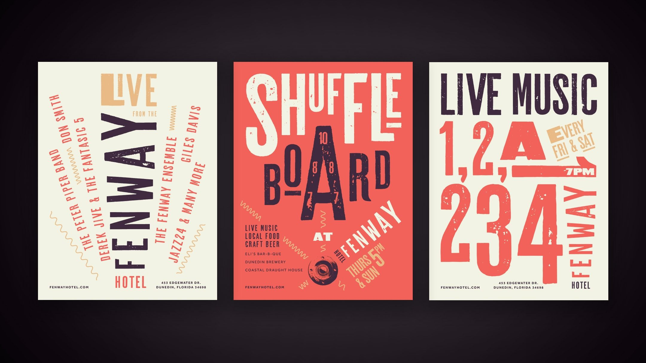 Hotel branding elements for fenway hotel hospitality branding