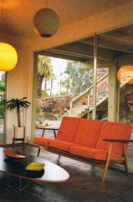 Magnificent Mid Century Sofa And Table Palm Springs Coastal Living Download Free Architecture Designs Remcamadebymaigaardcom