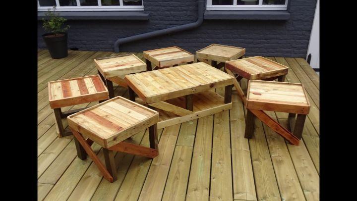 Salon de jardin en bois de palettes. #pallet#natural ...
