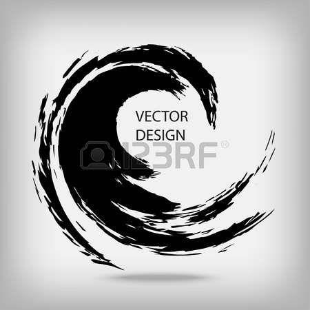Hand Drawn Circle Shape Circular Label Design Element Frame