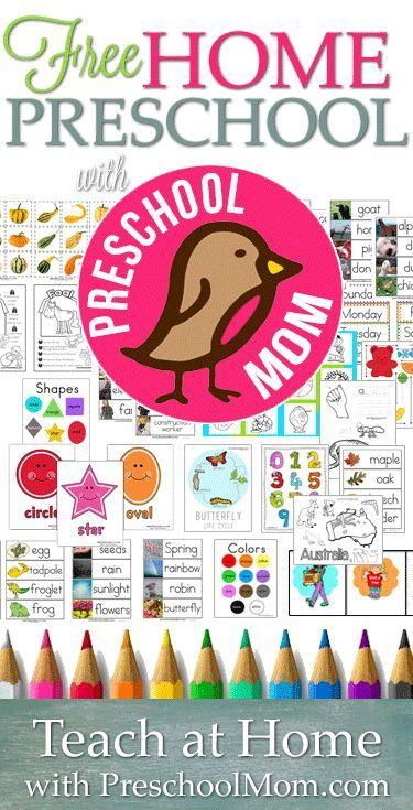 Free Home Preschool From Http Preschoolmom Com Hundreds Of Free Printables Themes And Teaching Resources Preschool Mom Preschool Prep Teaching Preschool Preschool teaching resources for free